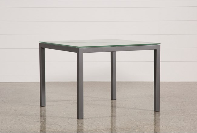 Ina pewter 40 inch square dining table wfrosted glass living spaces ina pewter 40 inch square dining table wfrosted glass 360 watchthetrailerfo