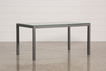Ina Pewter 60 Inch Dining Table W/Frosted Glass