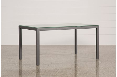 Ina Pewter 60 Inch Dining Table W/Frosted Glass - Main