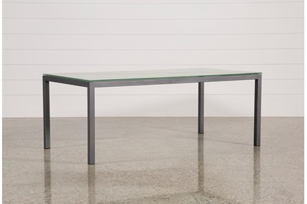 Ina Pewter 78 Inch Dining Table W/Frosted Glass - Main