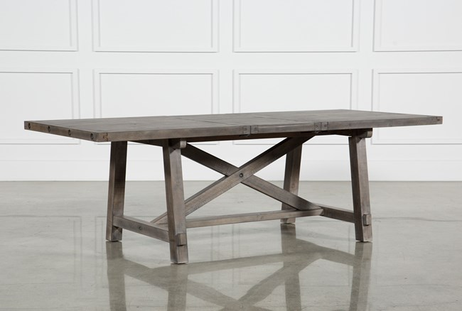 Jaxon Grey Rectangle Extension Dining Table - 360