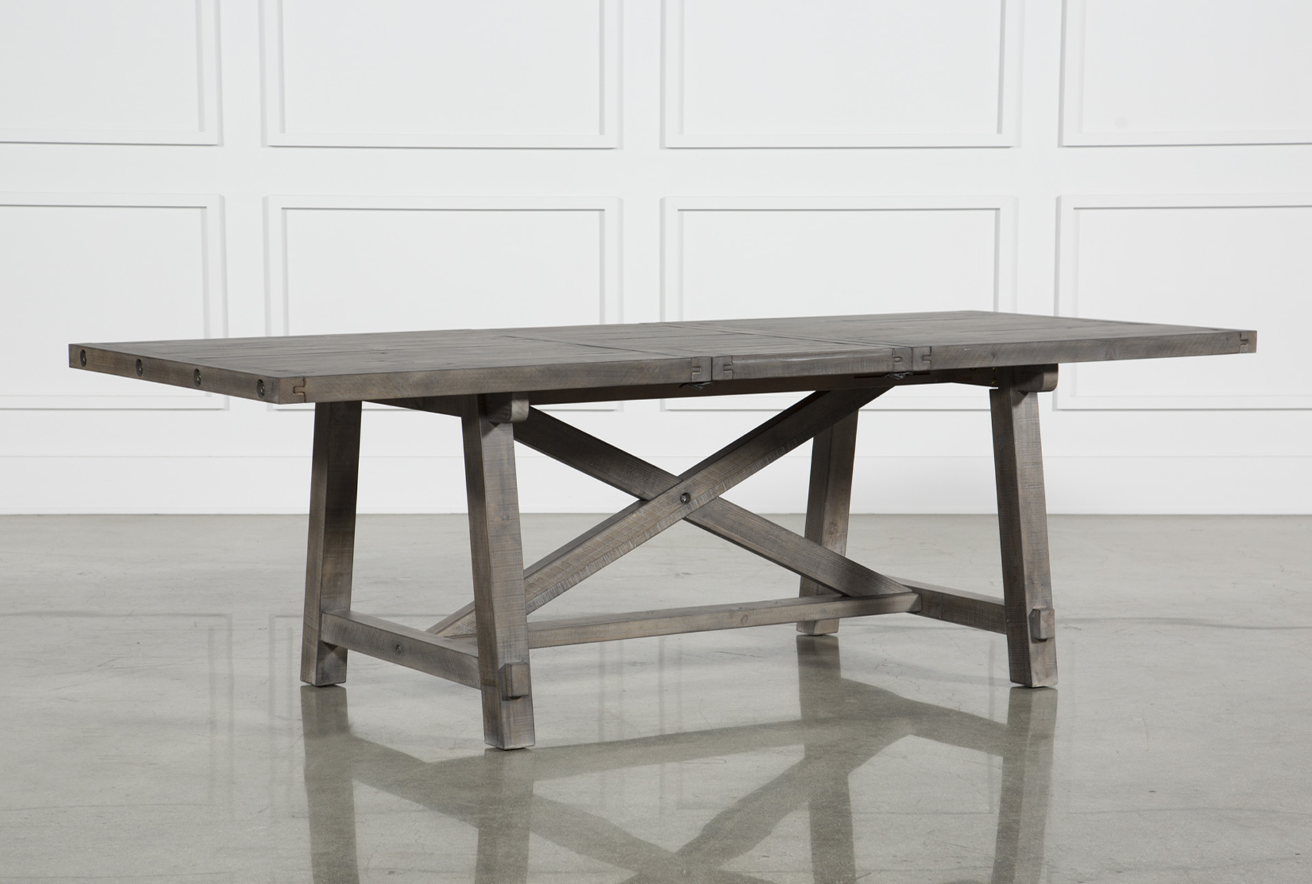 Jaxon Grey Rectangle Extension Dining Table   360