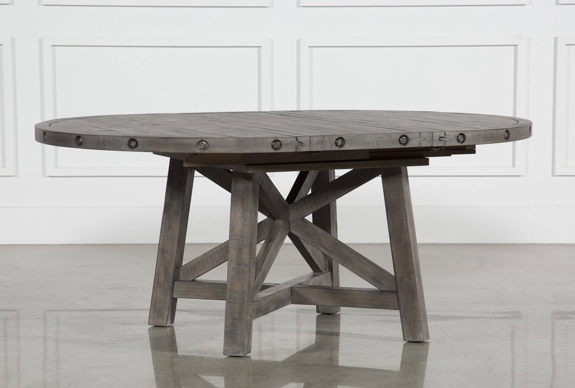 Jaxon Grey Round Extension Dining Table (Qty: 1) Has Been Successfully  Added To Your Cart.