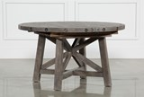 Jaxon Grey Round Extension Dining Table - Left