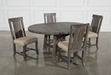 Jaxon Grey 5 Piece Round Extension Dining Set W/Wood Chairs - Top