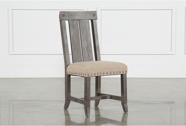 Jaxon Grey Wood Dining Side Chair - 360