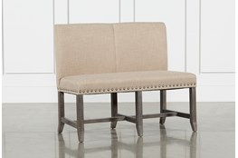 Jaxon Grey Upholstered High Back Bench