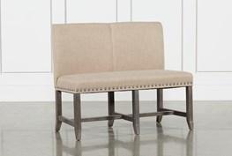 Jaxon Grey Upholstered High Back Bench
