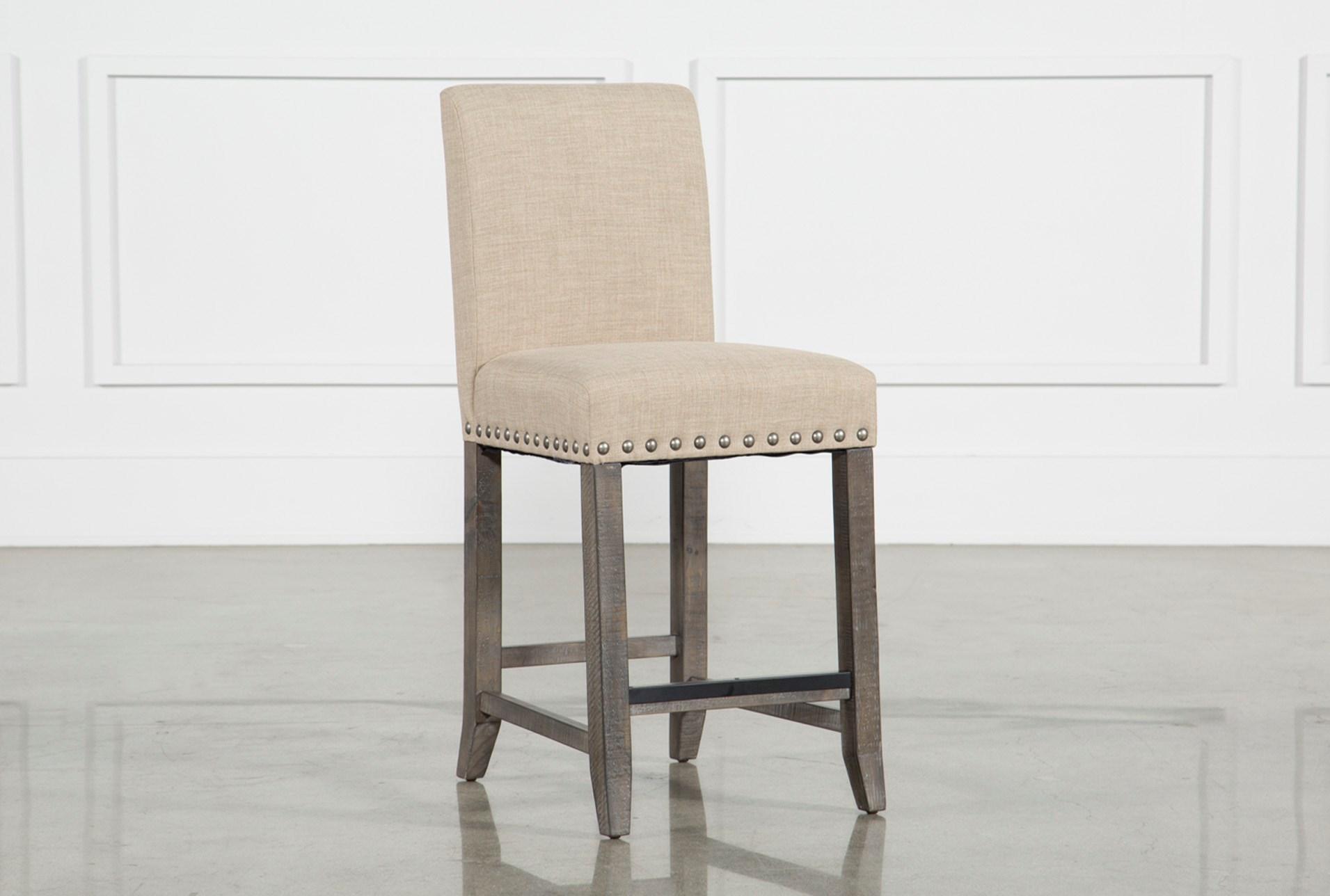 Groovy Jaxon Grey Fabric Counter Stool Andrewgaddart Wooden Chair Designs For Living Room Andrewgaddartcom