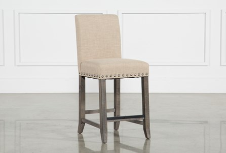 Jaxon Grey Fabric Counterstool