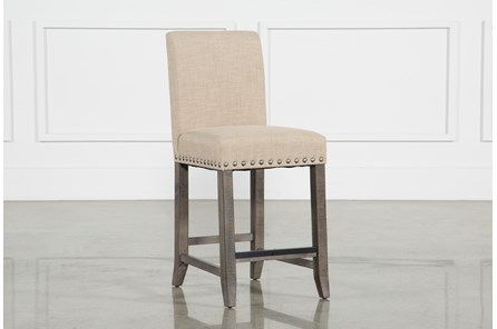 Jaxon Grey Fabric Counter Stool