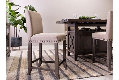 Phenomenal Jaxon Grey Fabric Counter Stool Andrewgaddart Wooden Chair Designs For Living Room Andrewgaddartcom