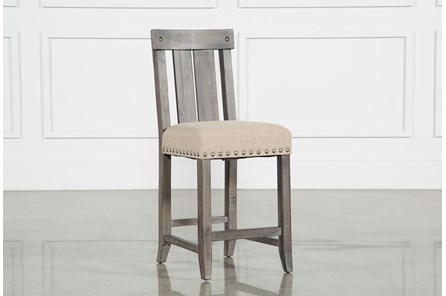 Jaxon Grey Wood Counter Stool