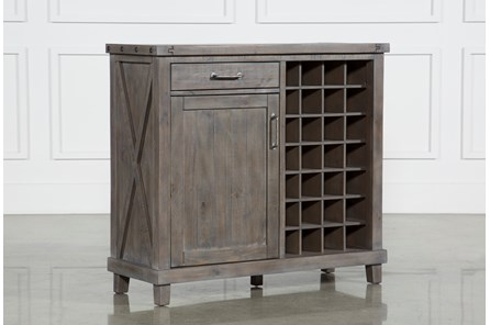 Jaxon Grey Wine Cabinet - Main
