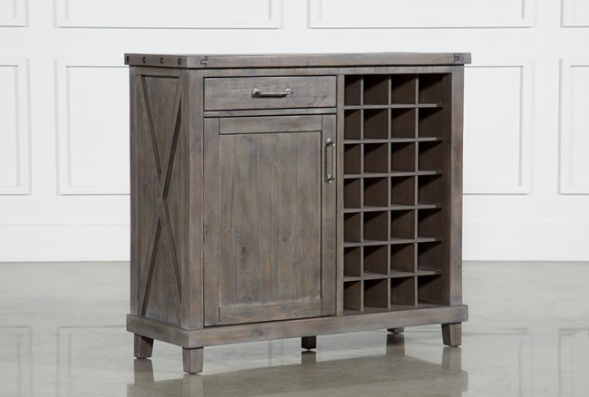 Jaxon Grey Wine Cabinet - 360