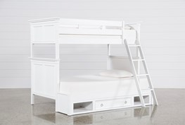 Albany Twin Over Full Bunk Bed With 1 Drawer Storage Base