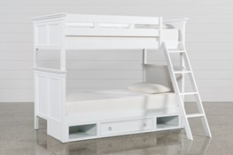 Albany Twin Over Twin Bunk Bed With 1 Drawer Storage Base