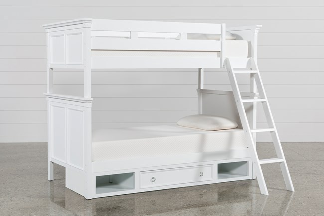 Albany Twin Over Twin Bunk Bed With Drawer