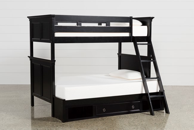 Savannah Twin Over Full Bunk Bed With Drawer Base - 360