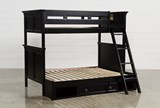 Savannah Twin Over Full Bunk Bed With Drawer Base - Left