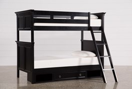 Savannah Twin Over Twin Bunk Bed With 1 Drawer Storage Base