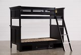 Savannah Twin Over Twin Bunk Bed With Drawer Base - Left