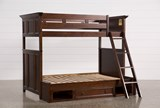 Dalton Twin Over Full Bunk Bed With Drawer Base - Left