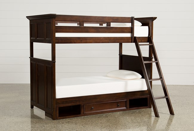 Dalton Twin Over Twin Bunk Bed With 1 Drawer Storage Base - 360