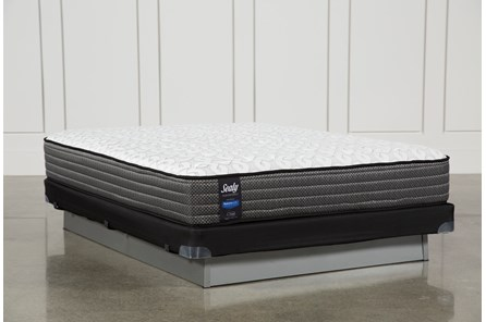 Butterfield Cushion Firm Queen Mattress W/Low Profile Foundation - Main