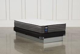 Butterfield Cushion Firm Twin Mattress W/Low Profile Foundation