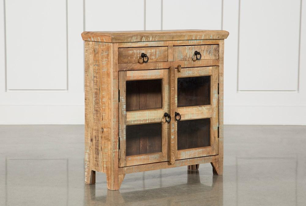 Mango Wood 2-Door/2-Drawer Cabinet