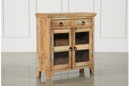 Mango Wood 2-Door/2-Drawer Cabinet