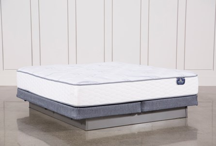 Coralview Plush Eastern King Mattress W/Low Profile Foundation