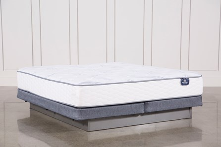 Coralview Plush Cal King Mattress W/ Low Profile Foundation