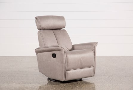 Labaron Ash Swivel Glider Recliner W/ Adjustable Headrest