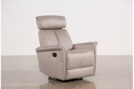 Labaron Ash Swivel Glider Recliner W/ Adjustable Headrest - Main