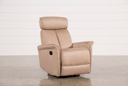 Labaron Sand Swivel Glider Recliner W/ Adjustable Headrest