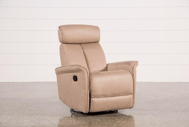 Labaron Sand Swivel Glider Recliner W/ Adjustable Headrest - 360