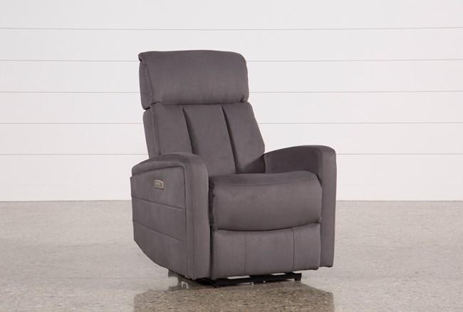 Leena Dark Grey Power Wallaway Recliner W/ Adjustable Headrest - 360