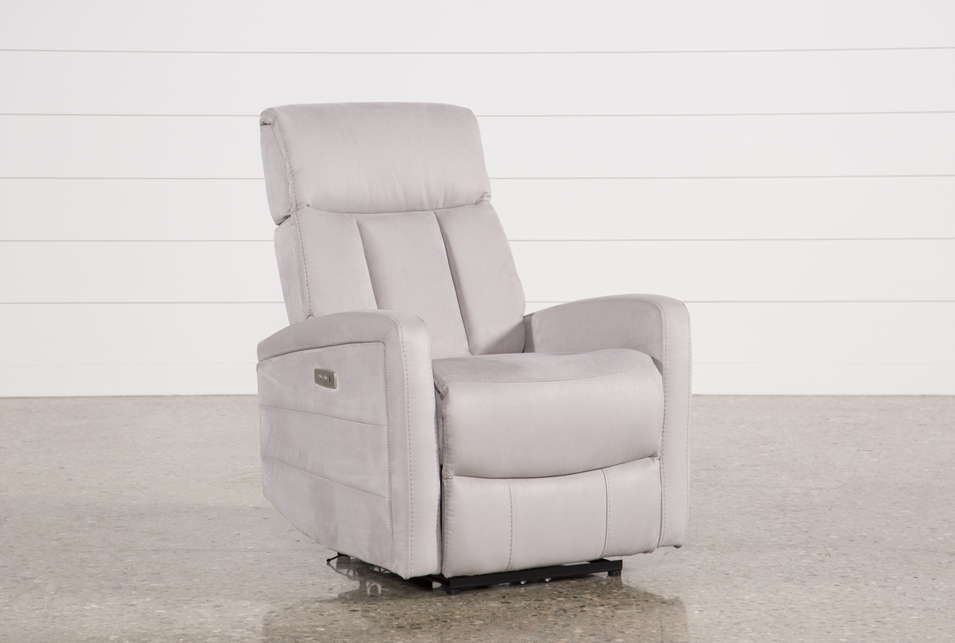Genial Display Product Reviews For LEENA LIGHT GREY POWER WALLAWAY RECLINER W/  ADJUSTABLE HEADREST