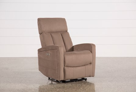 Leena Mocha Power Wallaway Recliner W/ Adjustable Headrest