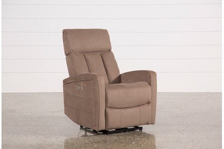 Leena Mocha Power Wallaway Recliner W/ Adjustable Headrest - Main