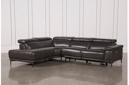 "Tatum Dark Grey 2 Piece 116"" Sectional With Left Arm Facing Armless Chaise"