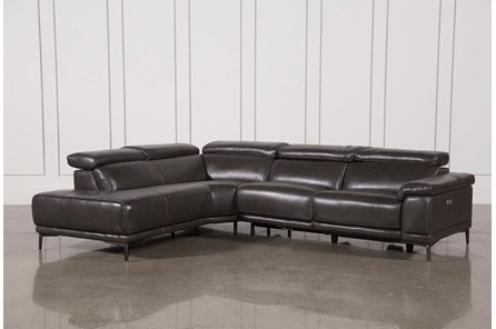 Tatum Dark Grey 2 Piece Sectional W/Laf Chaise