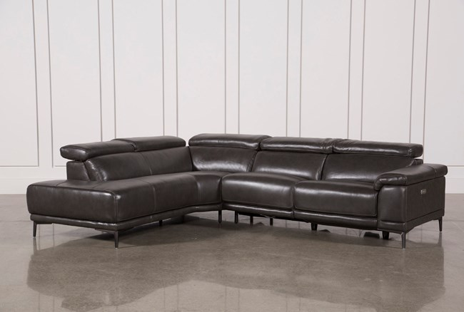 Tatum Dark Grey 2 Piece Sectional W/Laf Chaise - 360
