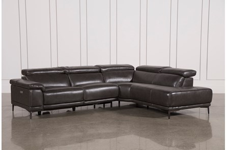 Tatum Dark Grey 2 Piece Sectional W/Raf Chaise