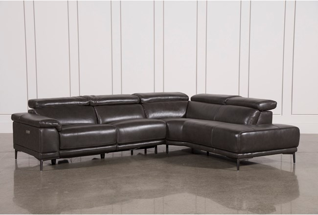 "Tatum Dark Grey 2 Piece 116"" Sectional With Right Arm Facing Armless Chaise - 360"