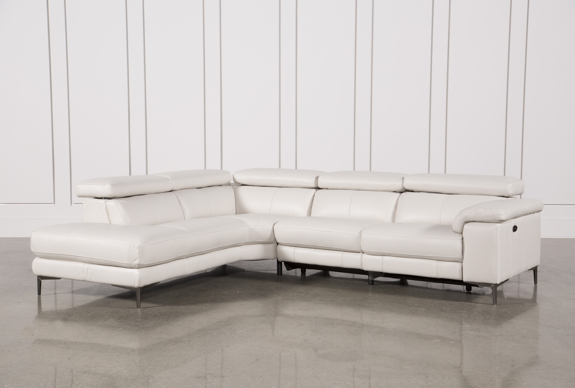 Beautiful Tess 2 Piece Power Reclining Sectional W/Laf Chaise