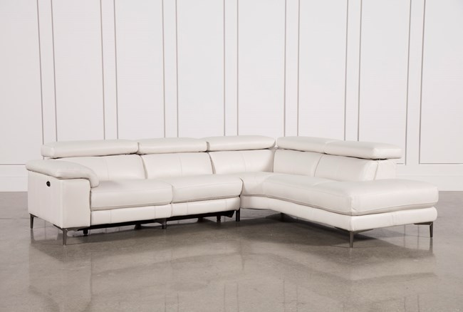 Tess 2 Piece Power Reclining Sectional W/Raf Chaise - 360