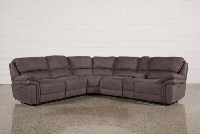 Norfolk Grey 6 Piece Sectional - 360